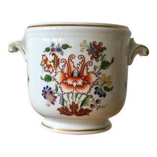 1980s Hollywood Regency Richard Ginori Ischia Pattern Floral Cachepot For Sale