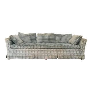Vintage Henredon Midcentury Plaid Velvet Sofa For Sale
