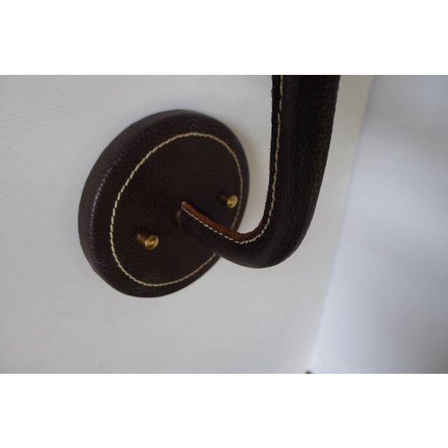 Not Yet Made - Made To Order Paul Marra Top-Stitched Leather Wrapped Sconce in Brown For Sale - Image 5 of 7