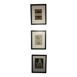 1920s Vintage Triptych Nursery Rhyme Illustrations - Set of 3 For Sale