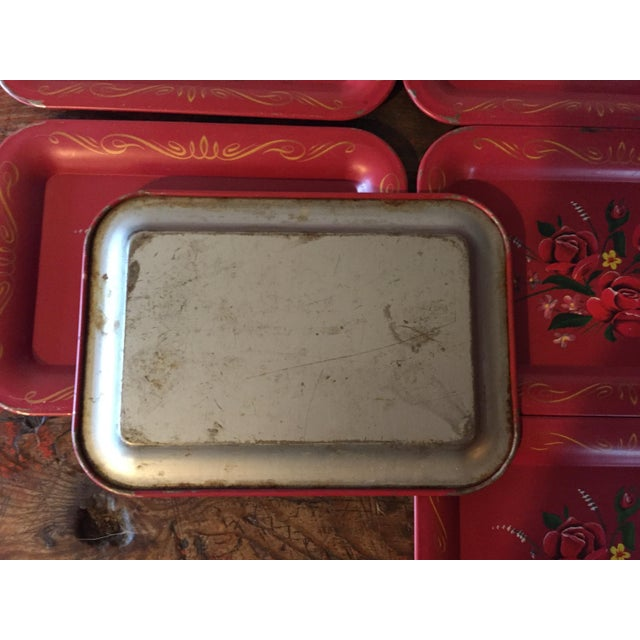 Red Rose Tole Trays - Set of 11 - Image 7 of 7