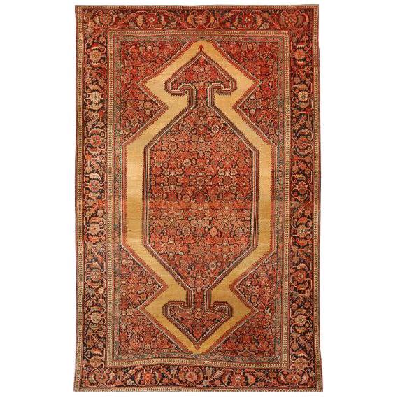 Antique 19th Century Farahan Sarouk Rug For Sale