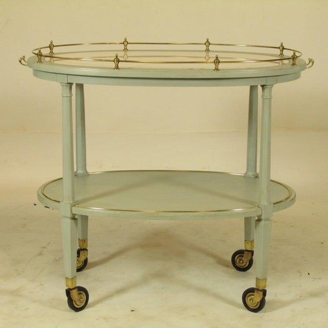English Gray Painted Tea Cart For Sale - Image 11 of 11