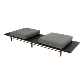 Milo Baughman for Thayer Coggin Monumental Low Table or Gallery Bench With Cushions For Sale