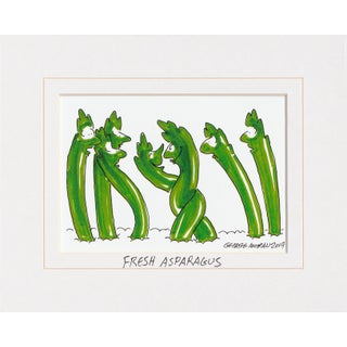 George Moran Illustration Print, Fresh Asparagus For Sale