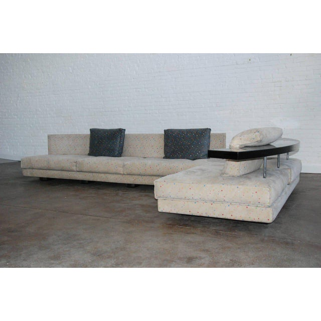 "Contemporary 1990, Saporiti Italia, ""Avedon"", Modern, Sofa by Mauro Lipparini For Sale - Image 3 of 10"