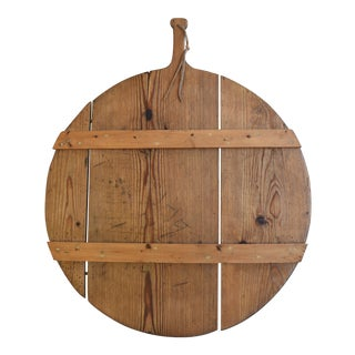 Antique Pine French Charcuterie Bread Cheese Serving Tray Board For Sale