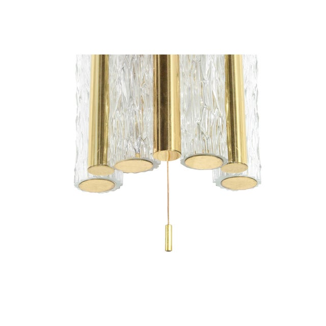 1950s Germany Murano Glass and Brass Sconces by Doria Leuchten - a Pair For Sale In New York - Image 6 of 8
