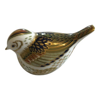 Antique Royal Crown Derby Bird Paperweight Figurine For Sale