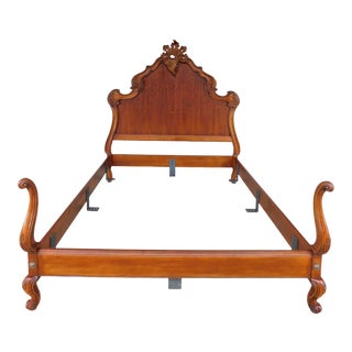Quality French Louis XV Style Queen Size Bed For Sale