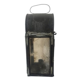 Antique Tin and Mica Panel Candle Lantern - Antique Lighting For Sale