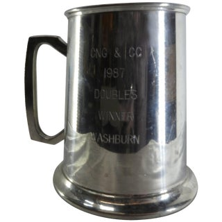 Engraved Genuine Pewter Tankard From Bolivia For Sale