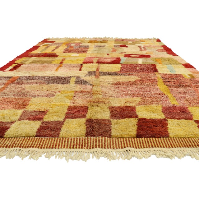 Abstract Expressionism Moroccan Contemporary Rug - 08'11 X 11'10 For Sale - Image 3 of 10