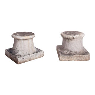Curved Marble Capitals - A Pair For Sale