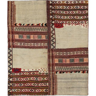 "Vintage Persian Flatweave Kilim Rug – Size: 6"" X 7' 3"" For Sale"
