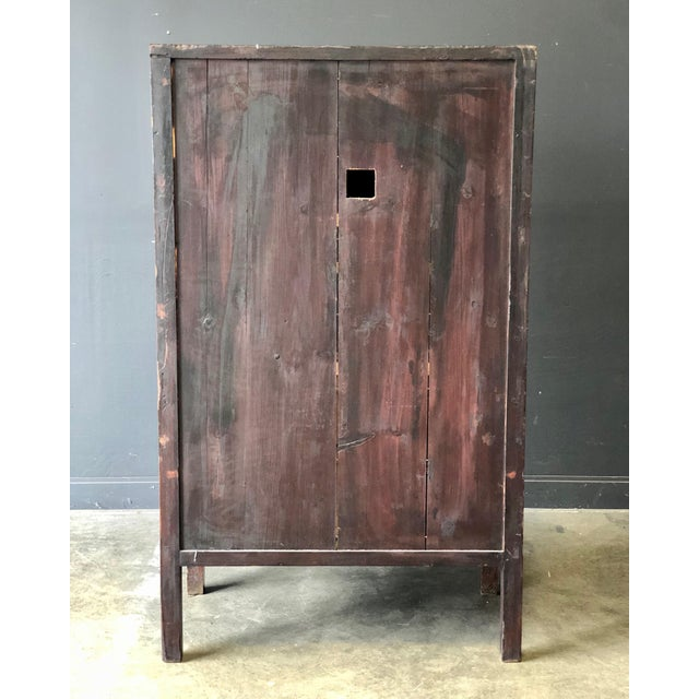 Antique Red Asian Cabinet For Sale - Image 12 of 13