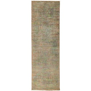 "Over-Dyed Hand Knotted Runner - 3'3"" X 10'3"""