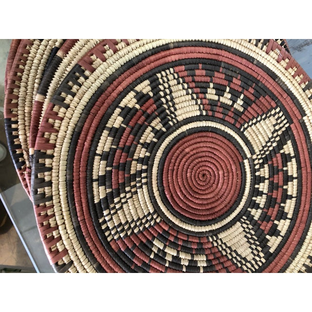 1970s Handmade African Placemats, 7 Set For Sale - Image 5 of 6