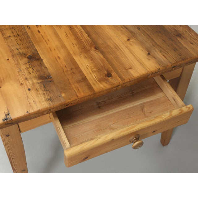 Yellow English Pine Farm Table From Main Pine Company For Sale - Image 8 of 11