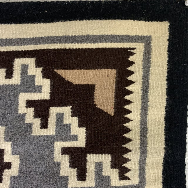 Gray Vintage Navajo Two Grey Hills Rug - 2'4'x3'9 For Sale - Image 8 of 12