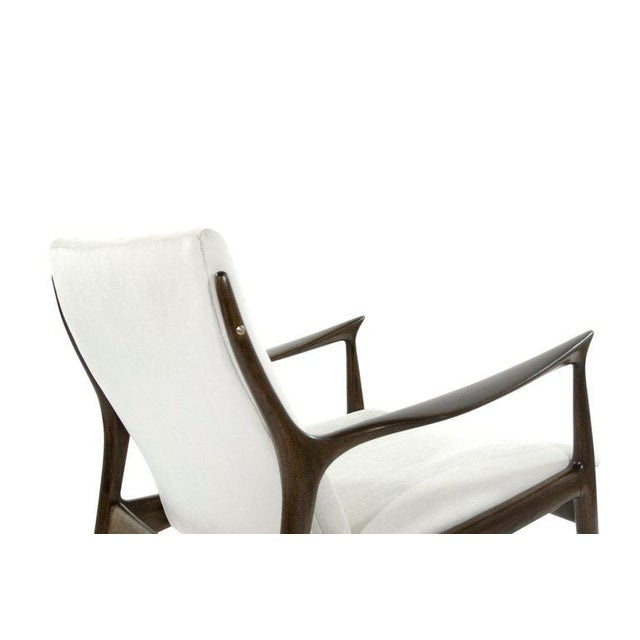 Linen Lounge Chairs by Ib Kofod-Larsen For Sale - Image 7 of 13