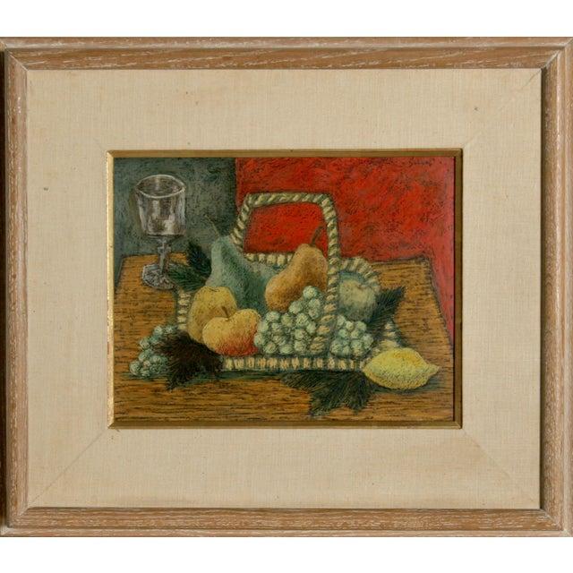 Impressionism Laurent Marcel Salinas, Nature Morte Au Fond Rouge, Oil on Masonite For Sale - Image 3 of 3