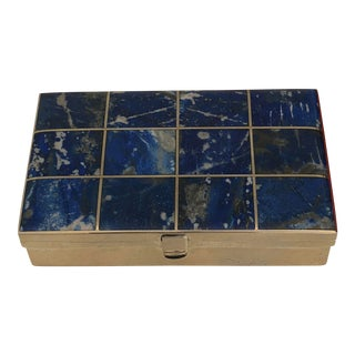 Lapis Lazuli and Silver Box by Morita Gil For Sale