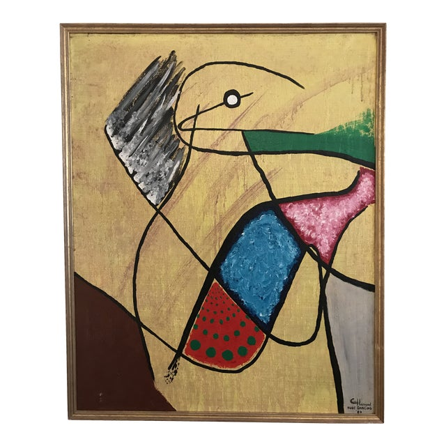 "1980s ""Nude Dancing"" Abstract Surrealist Painting For Sale"