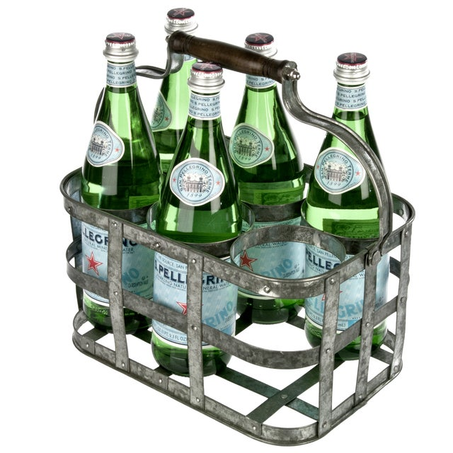 Galvanized Bottle Carrier - Image 2 of 3