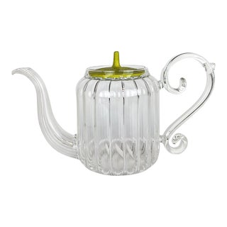 Baroque Mariage Freres Hand Blown Glass Teapot