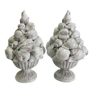 1950s Italian Ceramic Topiaries - a Pair