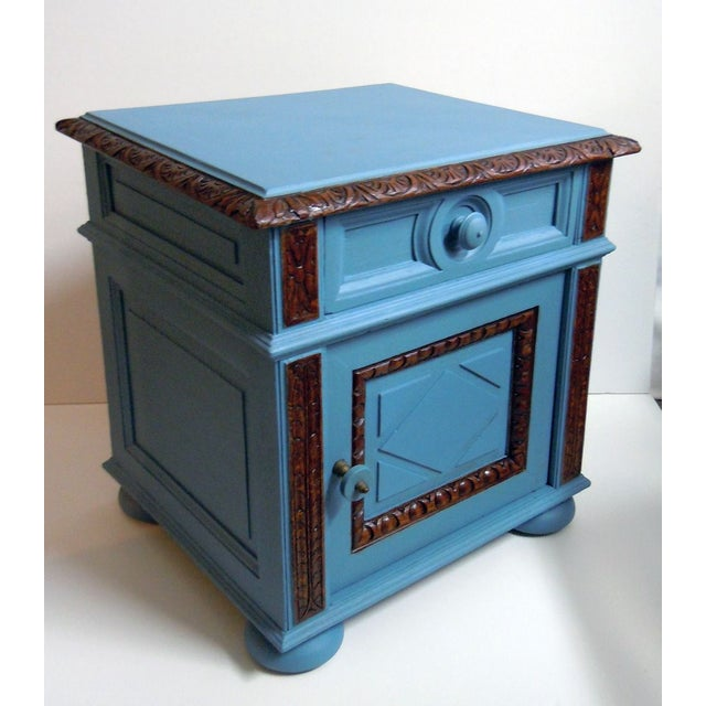 Blue Painted Mid-Century Nightstand - Image 3 of 9