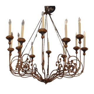 French 12 Arm Chain Chandelier