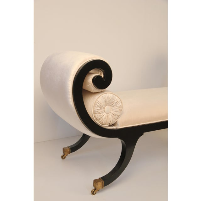 Regency Black Lacquer Bench - Image 3 of 4