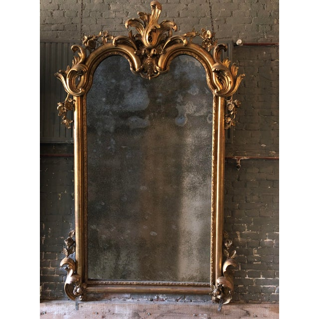 Gold 19th Century Mirror For Sale - Image 8 of 9