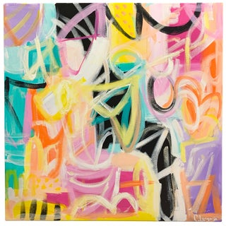 """Electricity"" Abstract Painting by Christina Longoria For Sale"