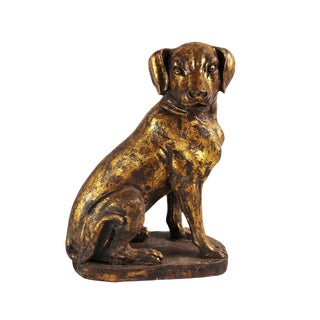 Cast Iron Gold Dog For Sale
