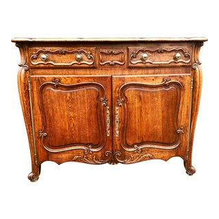 19th Century French Provincial Oak Commode For Sale