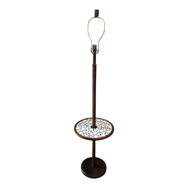 1970s Mid-Century Modern Martz Lamp Table Tile Nice For Sale