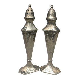 Cs Co. Silverplate Salt & Pepper Shakers - a Pair For Sale