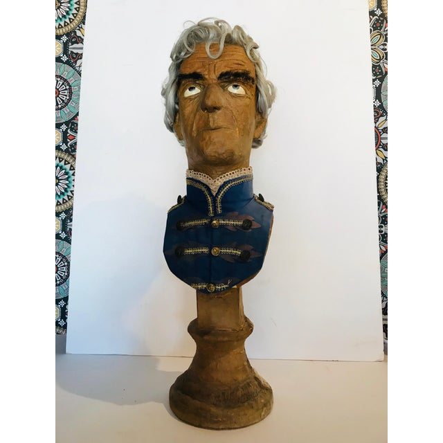 Traditional Papier Mache Bust For Sale - Image 6 of 6