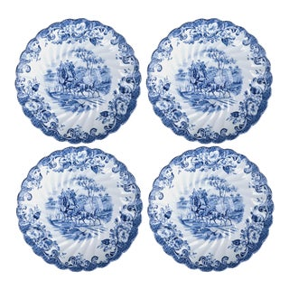 English Ironstone Saucers - Set of 4 For Sale