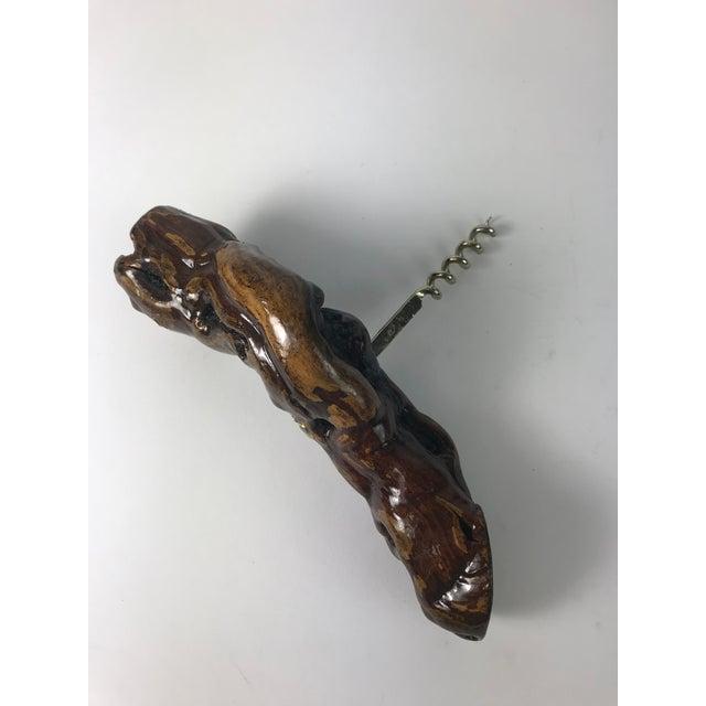 Nautical 1970s Nautical Driftwood Wine Bottle Opener Corkskrew For Sale - Image 3 of 5