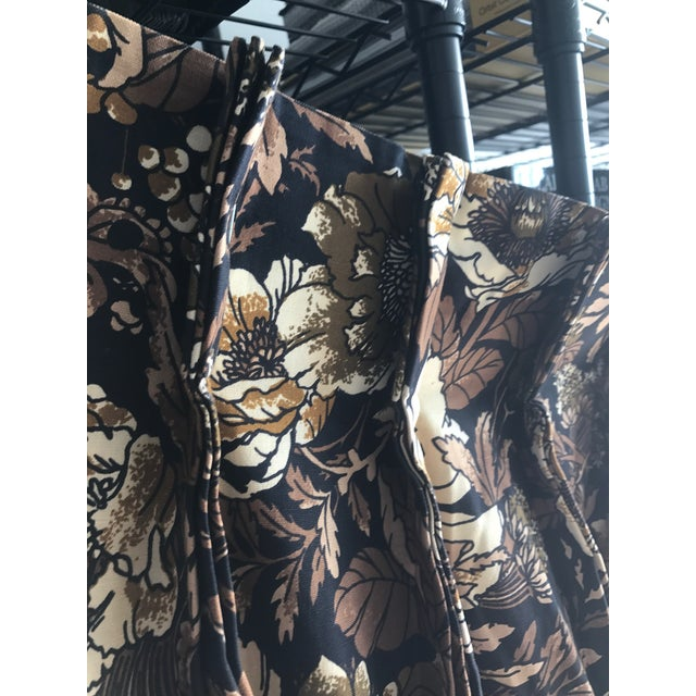 """Brady Bunch Style"" Floral Pattern Drapery Short Panel For Sale In Miami - Image 6 of 6"