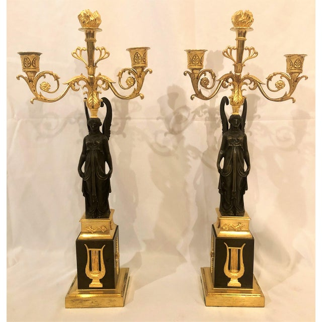 Pair Antique French Napoleonic Candelabra, Circa 1860-1870. For Sale In New Orleans - Image 6 of 6