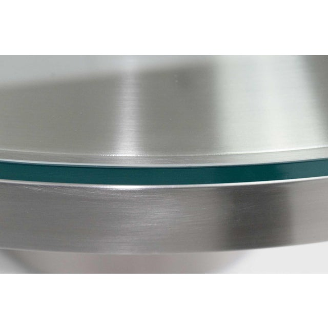 2010s Modern Brueton Brushed Stainless Steel Coffee Table For Sale - Image 5 of 9