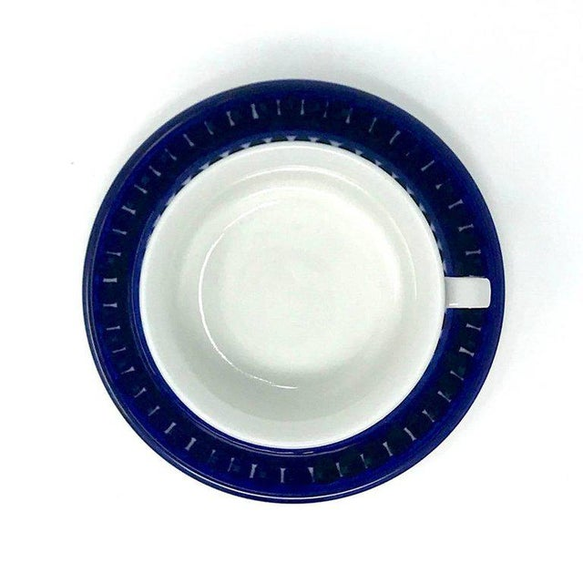 1960s 1960s Scandinavian Modern Ulla Procope for Arabia of Finland Valencia Cup and Saucer - 2 Pieces For Sale - Image 5 of 13