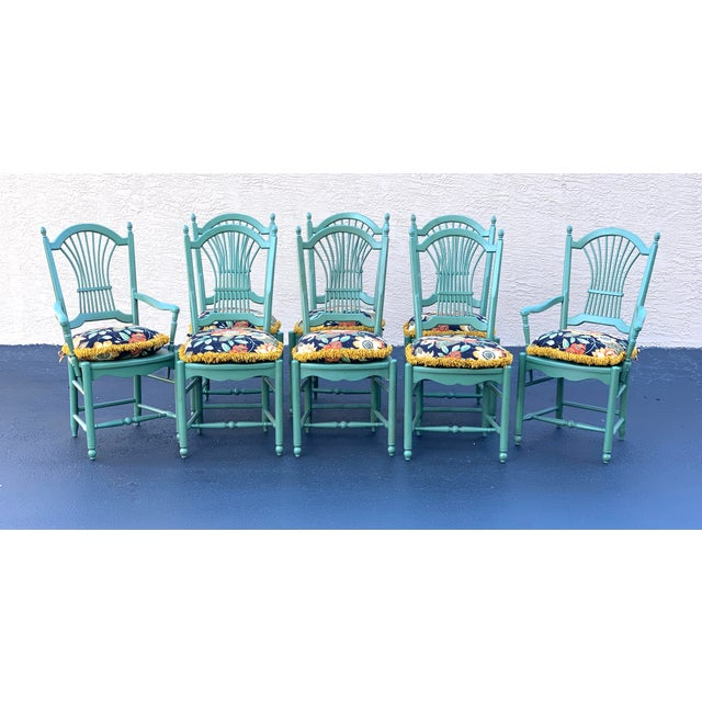 1990s Vintage Nichols & Stone French Country Dinning Chairs- Set of 8 For Sale - Image 12 of 12