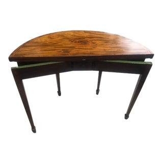 Antique English Mahogany Folding Tea Table For Sale