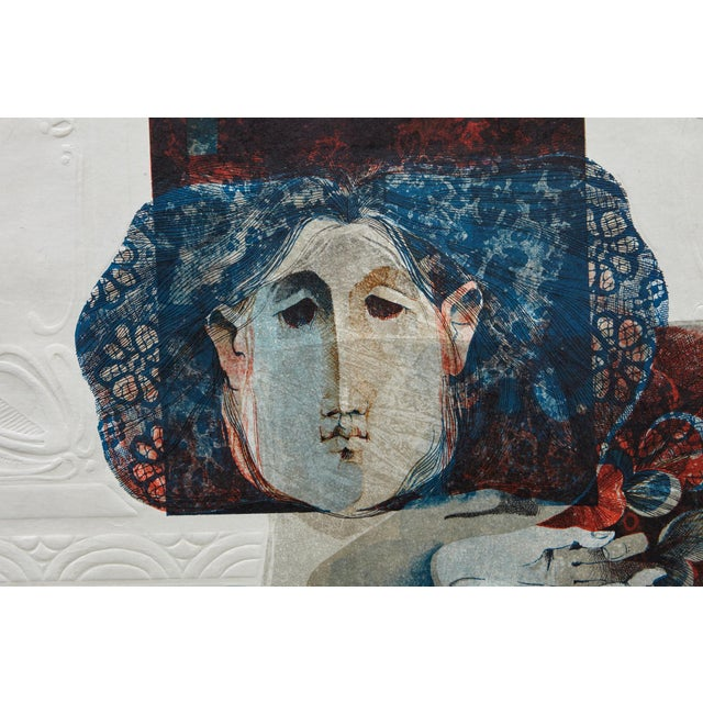 1980s Alvar Sunol Munoz-Ramos, Untitled, Signed and Numbered, # 63/80, 1980 For Sale - Image 5 of 12